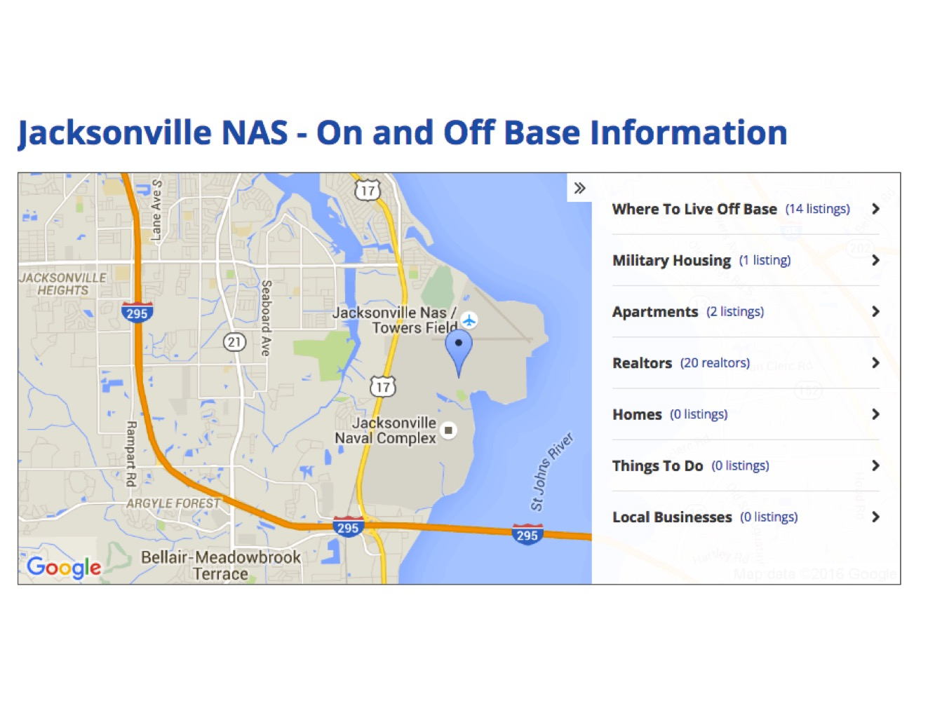 Where to live near nas jacksonville mayport military for Is jacksonville fl a good place to live