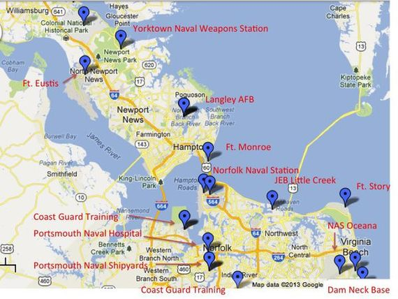 Military Bases in Hampton Roads