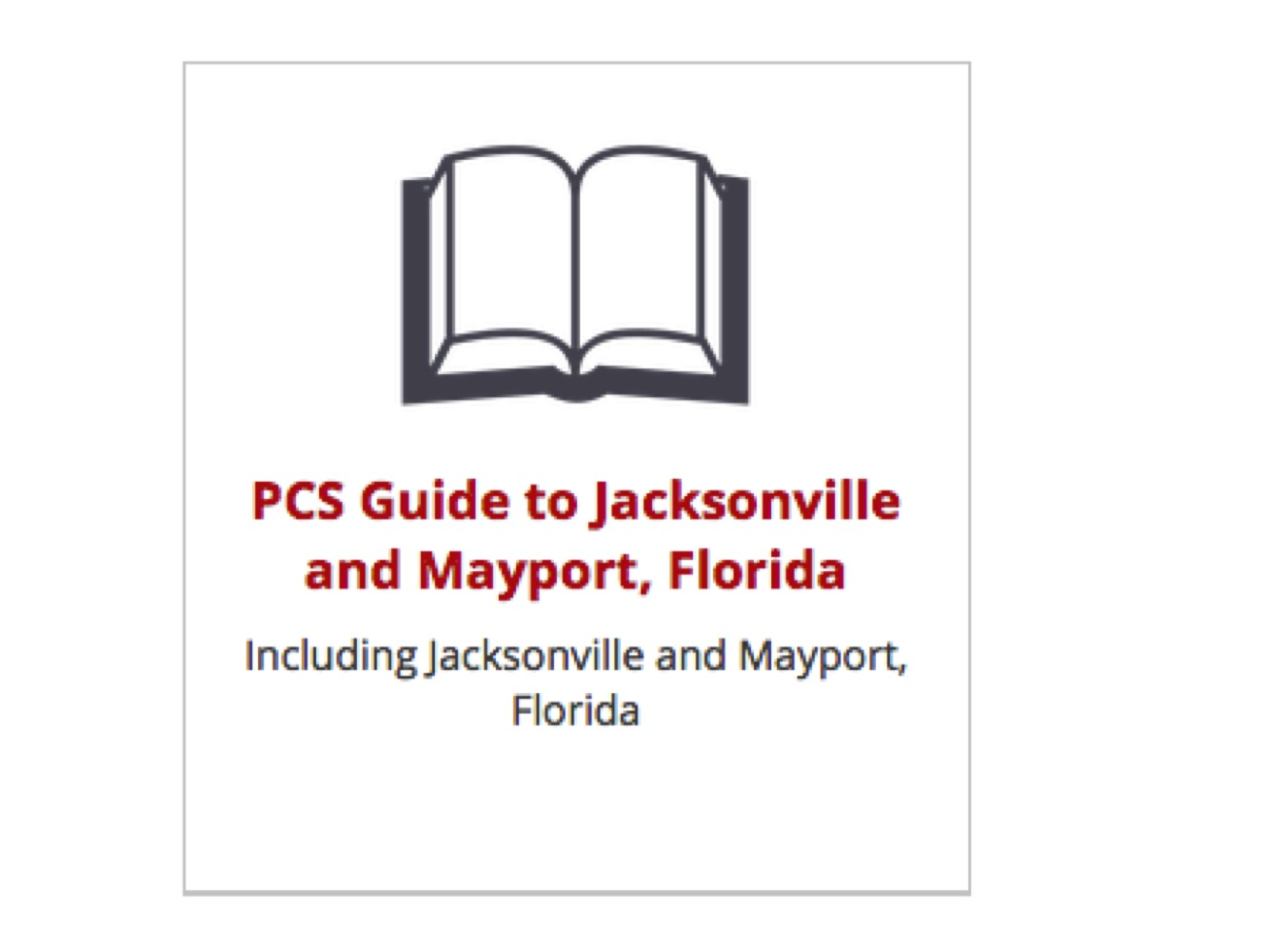 PCS Guide to Jacksonville