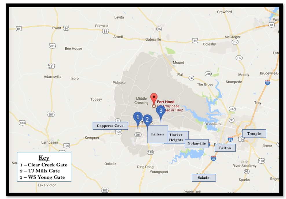 Where to live near Fort Hood