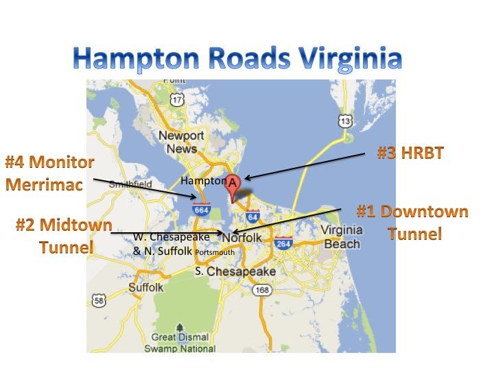 Hampton Roads Tunnel Traffic Military Town Advisor