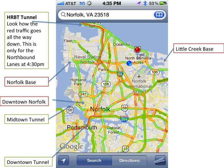 Tunnel Traffic in Hampton Roads
