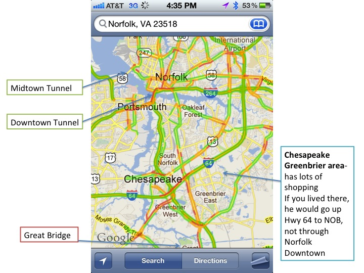 Tunnel Traffic in Virginia Beach